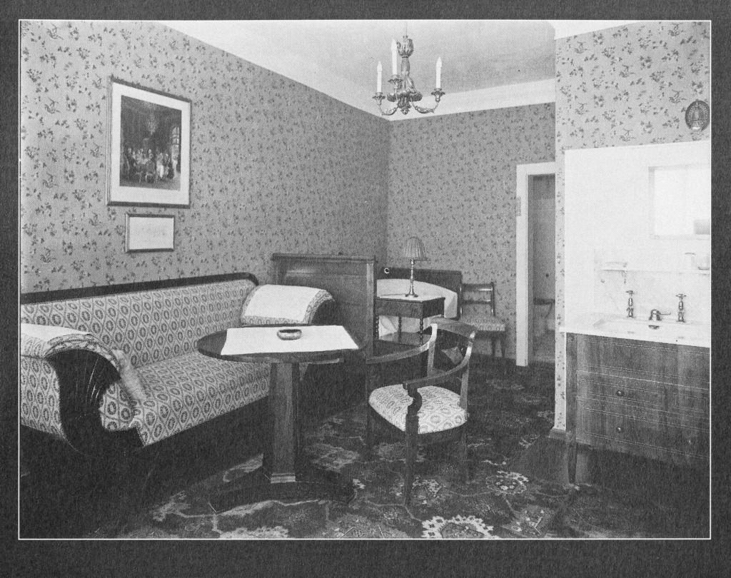 Das von Freud genutzte Zimmer Nr .15, das Adolf-von-Menzel-Zimmer. Foto zur Verfügung gestellt von Carl Vetter.