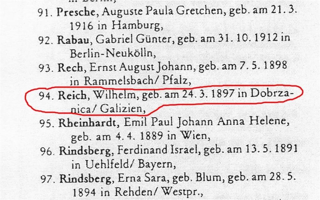"""Ausbürgerung Reichs, bekannt gemacht im """"Reichsanzeiger"""" vom 27.5.1940, Ausbürgerungsliste Nr. 178."""
