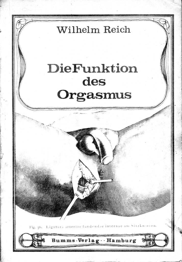 """Um 1968 entstandes Cover eines Raubdrucks von Reichs 1927 erschienenem Buch """"Die Funktion des Orgasmus""""."""