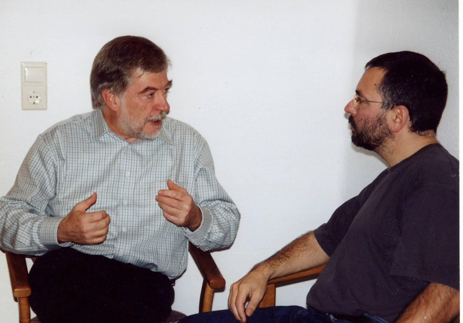 Hans-Joachim Maaz und Andreas Peglau, 2002 in Halle/Saale