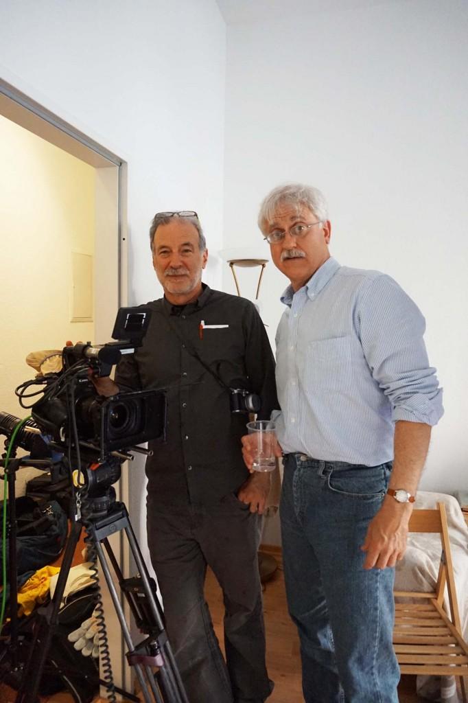 Glenn Orkin (links) und Kevin Hinchey nach getaner Arbeit.