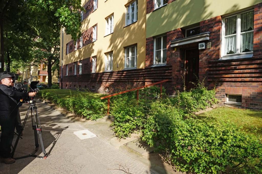 """Leider schon der letzte Drehort: Das zur """"Künstlerkolonie"""" gehörende Haus im Südwestcorso 50a, wo sich Reich oftmals in der Wohnung seiner Geliebten Elsa Lindenberg aufhielt."""