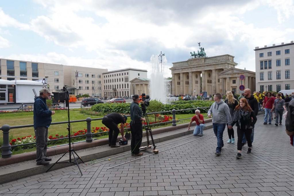Unverzichtbar als international bekanntes Berliner Wahrzeichen: das Brandenburger Tor.