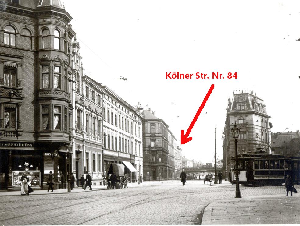 Kölner Straße in den 1920ern