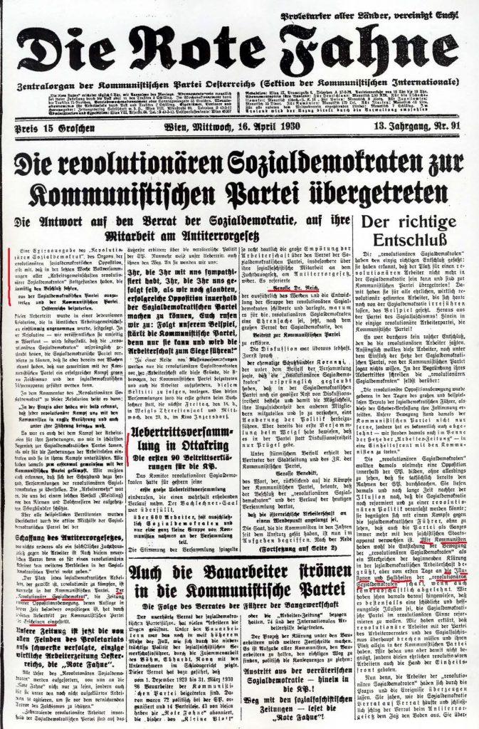 Rote Fahne (Wien), 16.4.1930