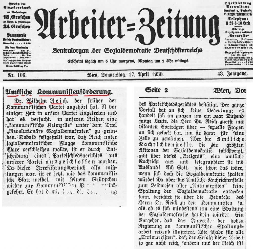 AZ Wien 17.4.1930