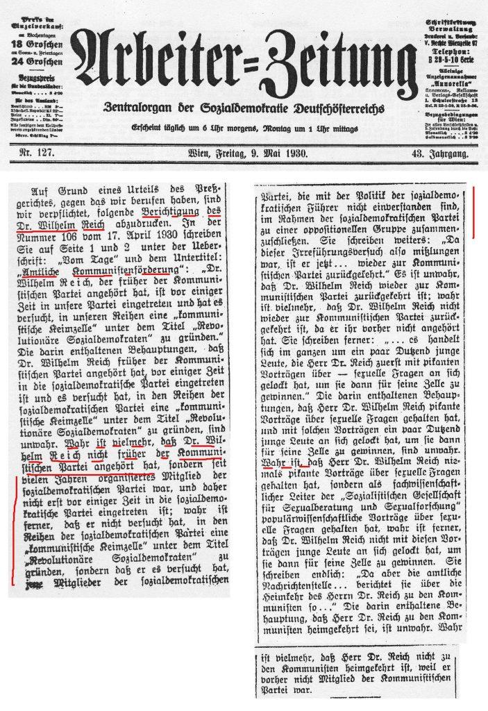 AZ Wien 9.5.1930