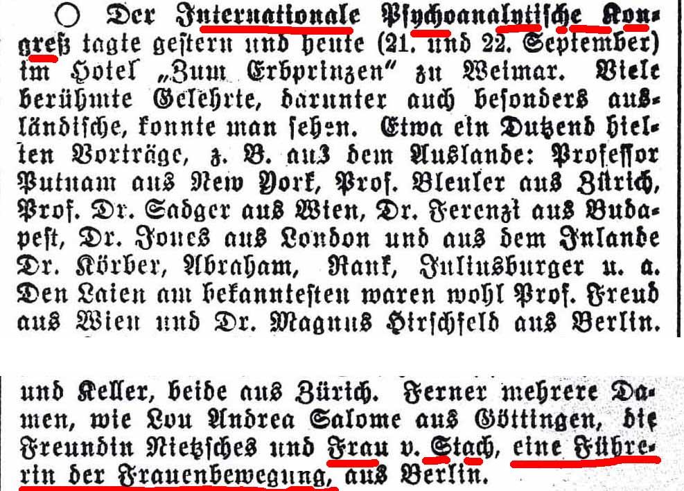 Weimarische Landeszeitung 24.9.1911