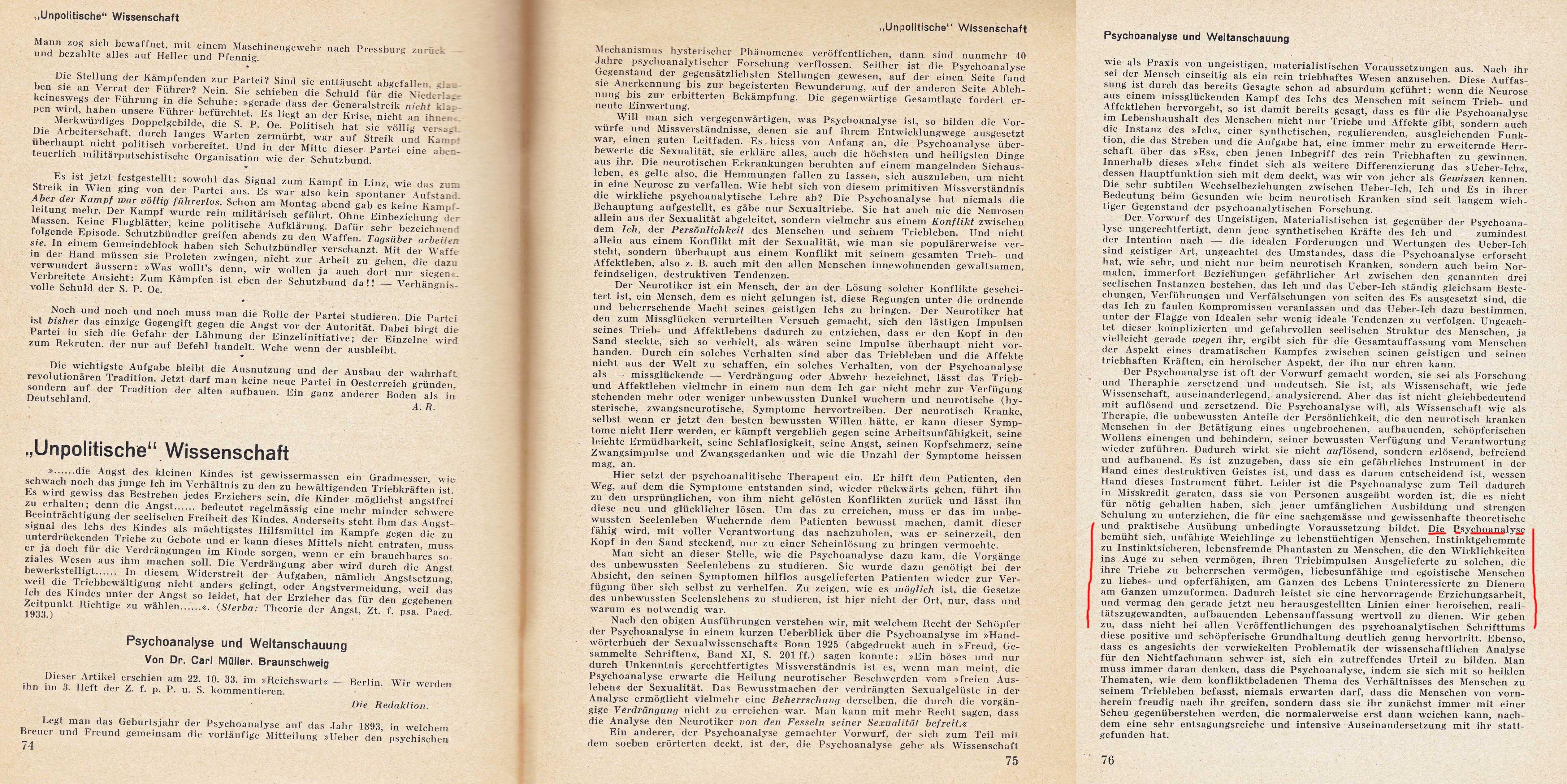 Memorandum 1933 in ZPPS